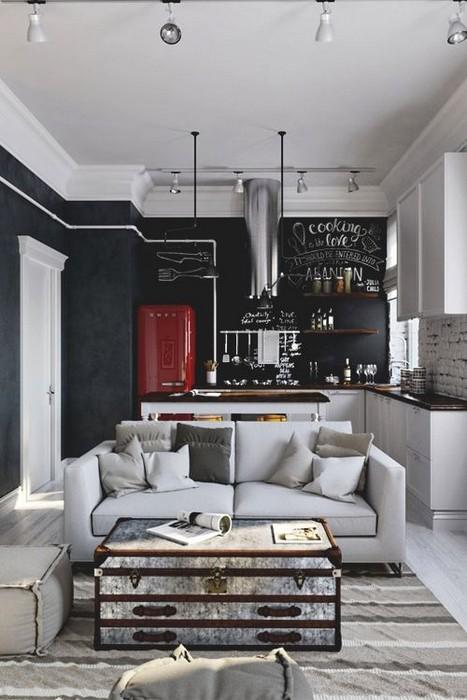 mur ardoise cuisine great peinture mur salle de bain avec. Black Bedroom Furniture Sets. Home Design Ideas