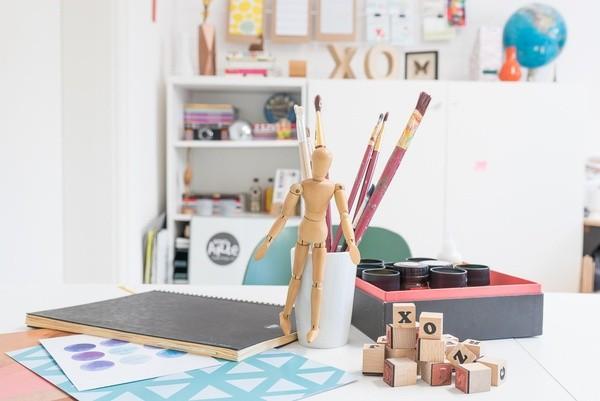 Bureau de l'artiste Xoxo Arte