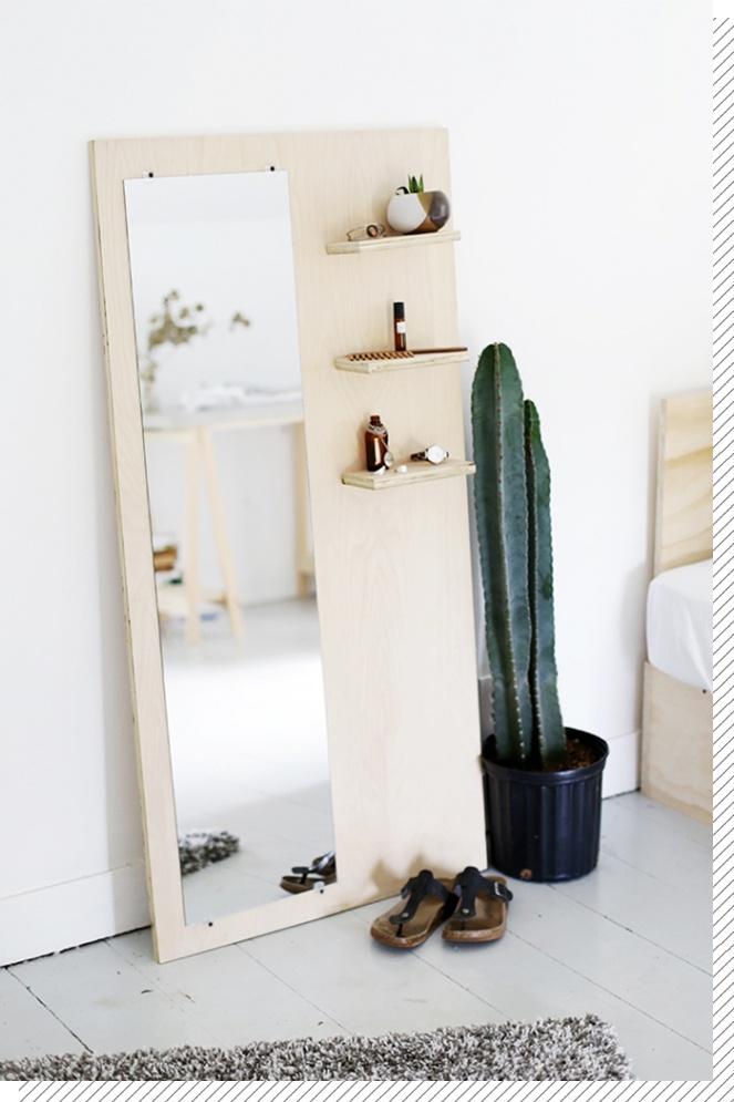 DIY Déco : le miroir sur pied