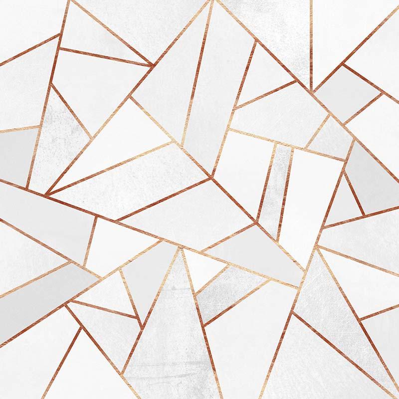 Tableau Marbre Blanc de l'artiste Elisabeth Fredriksson