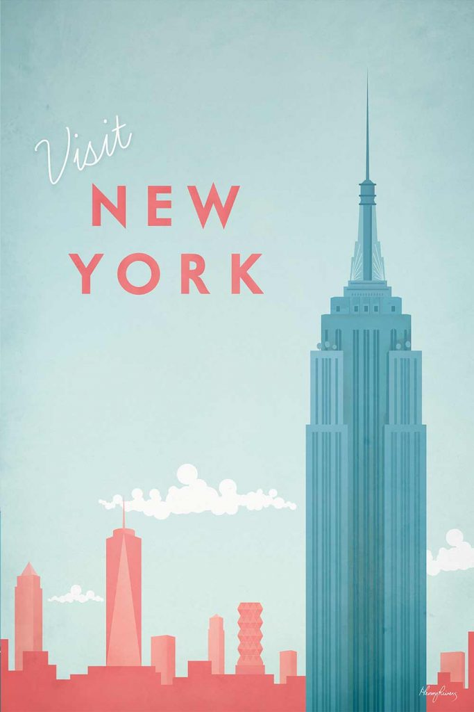 Tableau New York de l'artiste Henry Rivers