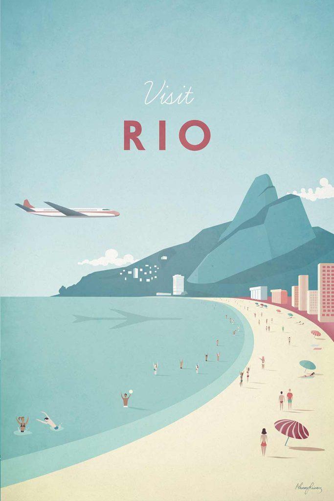 Tableau Rio de l'artiste Henry Rivers