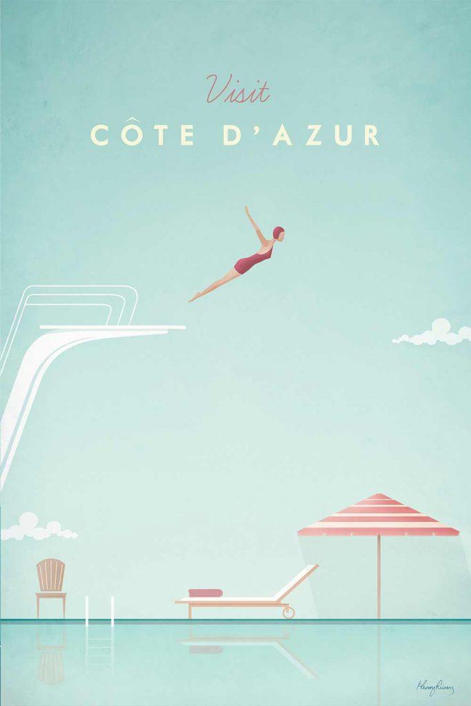 Tableau Côte d'Azur de l'artiste Henry Rivers