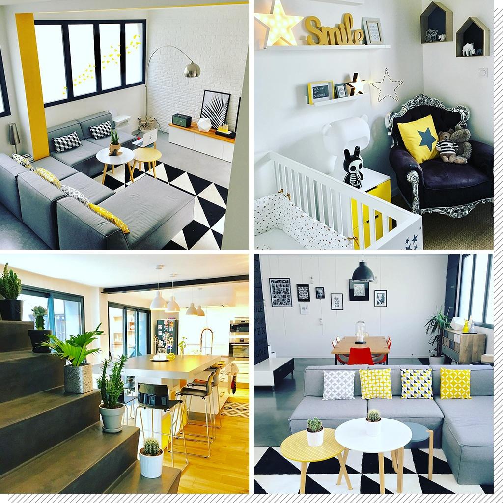 Déco colorée du loft jaune de Emilie