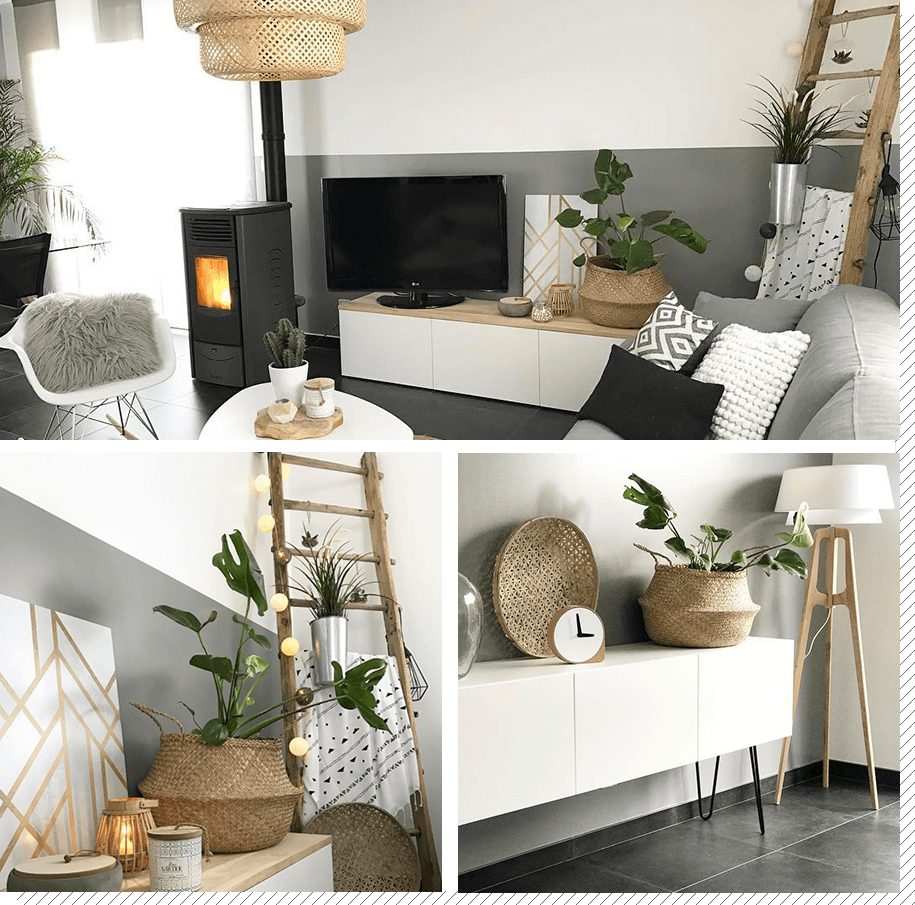 Un salon scandinave contemporain