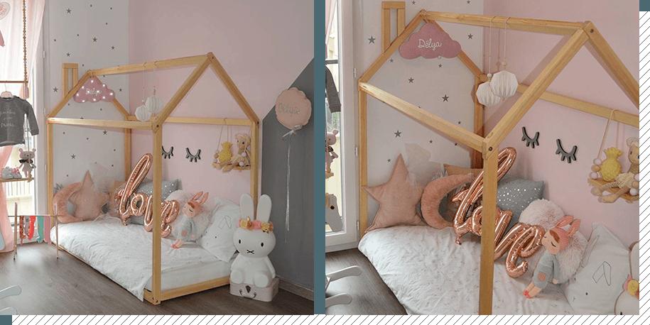chambre enfant le lit cabane   d coration cr ative