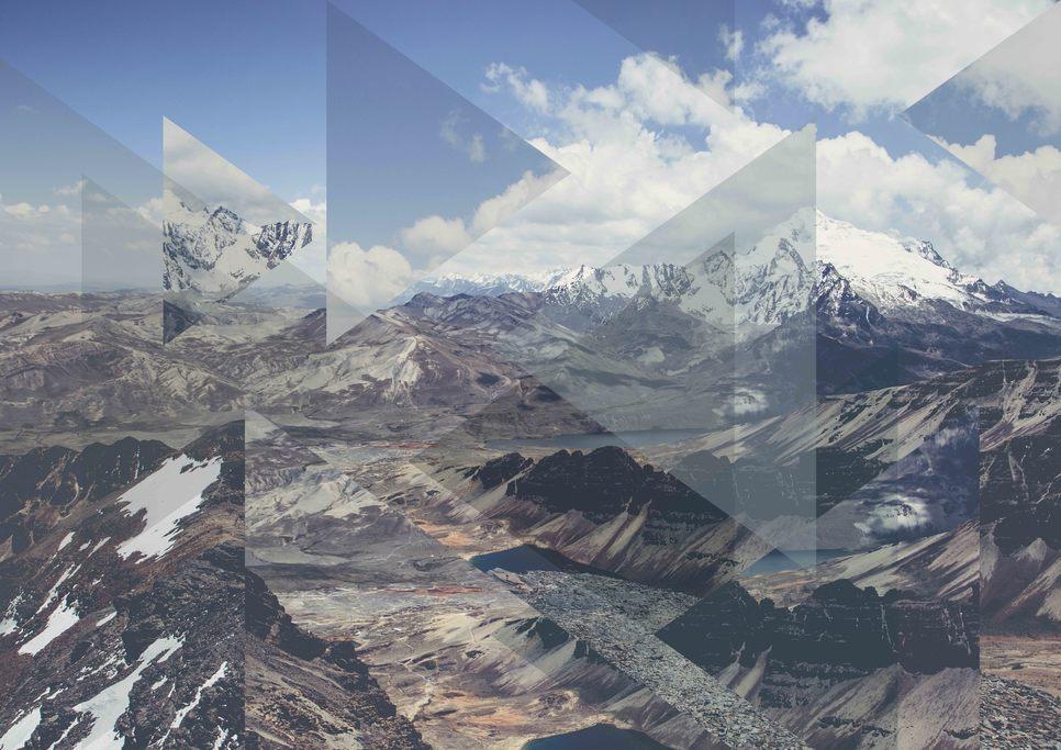 Tableau Montagne Moderne par l'artiste Joe Mania