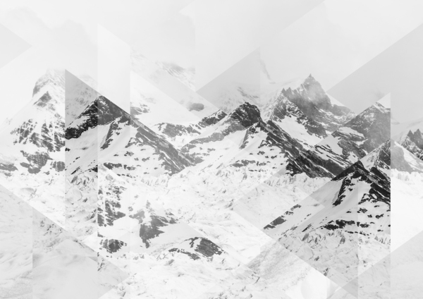 Tableau Montagne Neige de Joe Mania