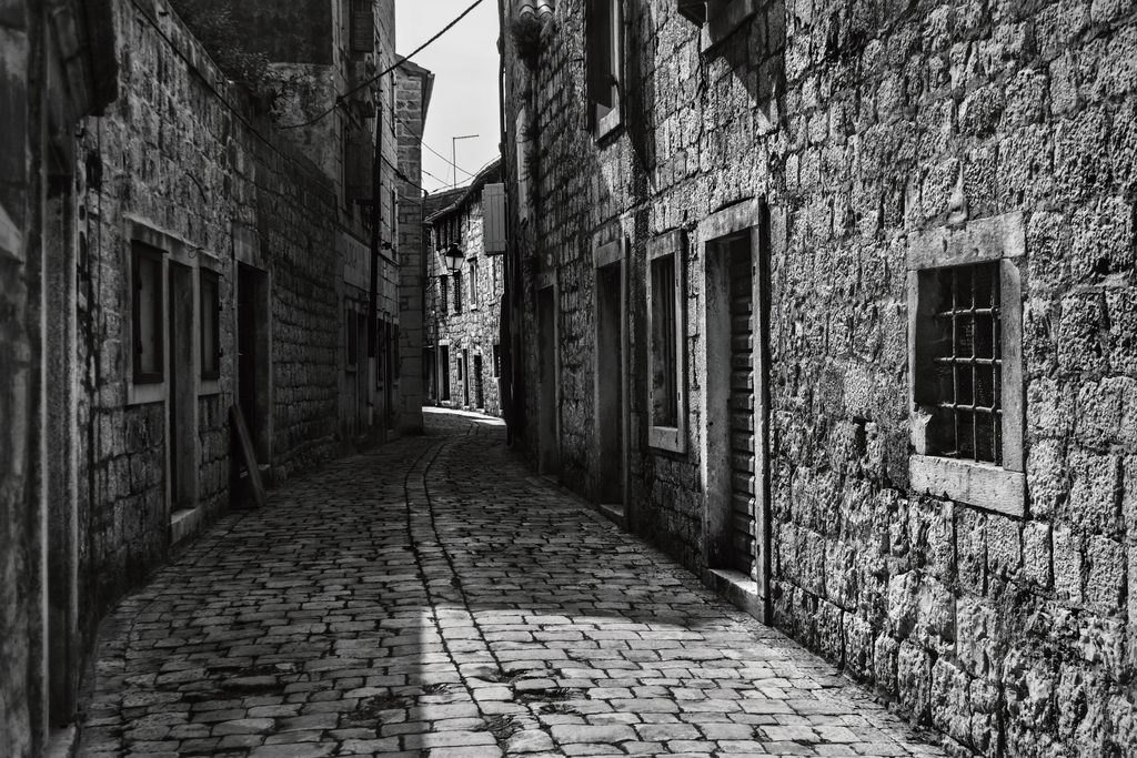 Tableau Ville Noir et Blanc de Andrew Paranavitana