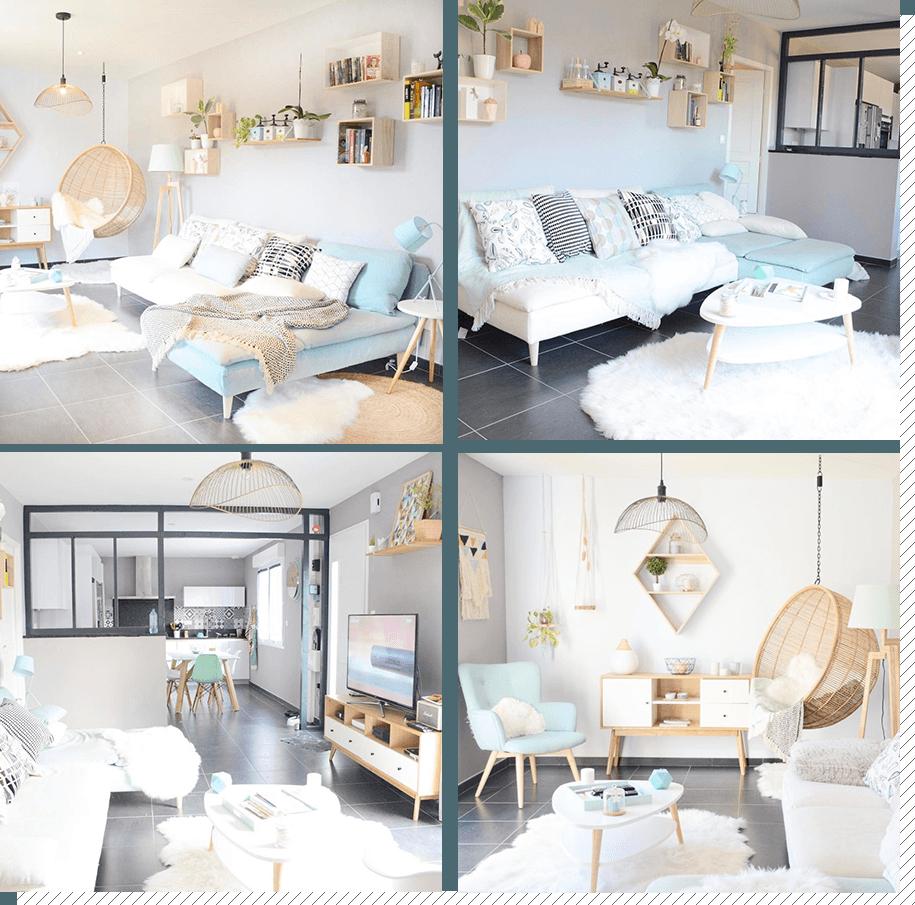 Deco Salon Mur Blanc salon scandinave : top 10 instagram - décoration créative